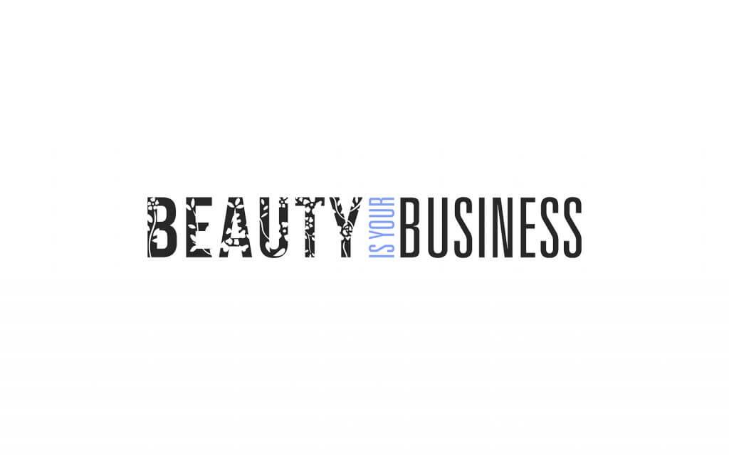 biyb floral logo black and blue