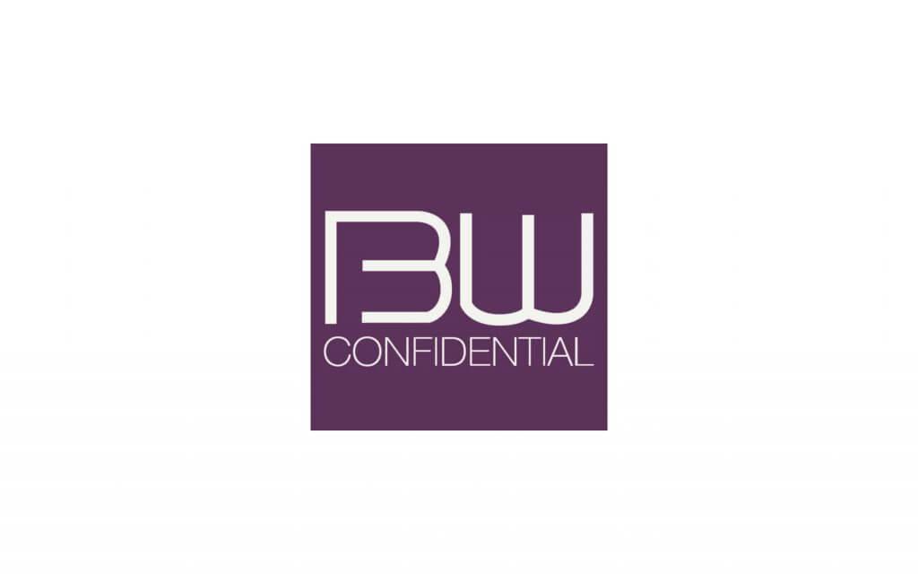 beauty confidential logo white on purple