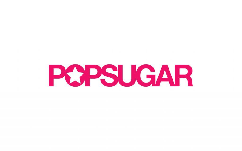 pop sugar logo hot pink